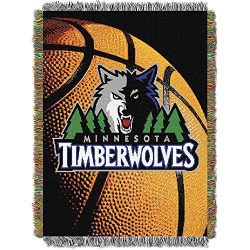NBA Minnesota Timberwolves Photo Real Tapestry Woven Throw Blue 48 x 60 * You can get additional details at the image link.