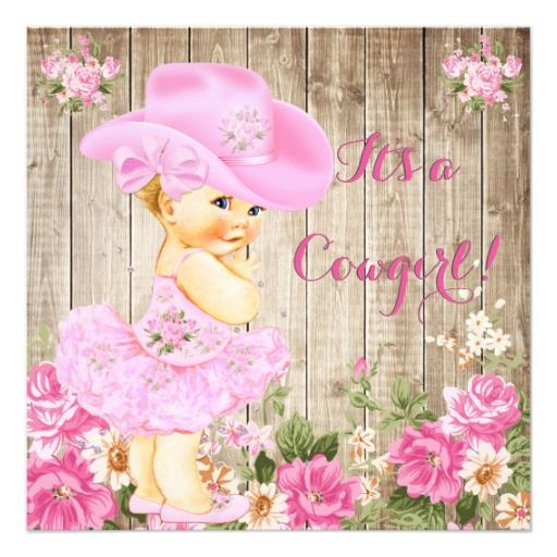 Cowgirl Baby Shower Pink Rustic Wood Girl Blonde Invitation Zazzle Com Cowgirl Baby Cowgirl Baby Showers Cowgirl Baby Shower Invitations