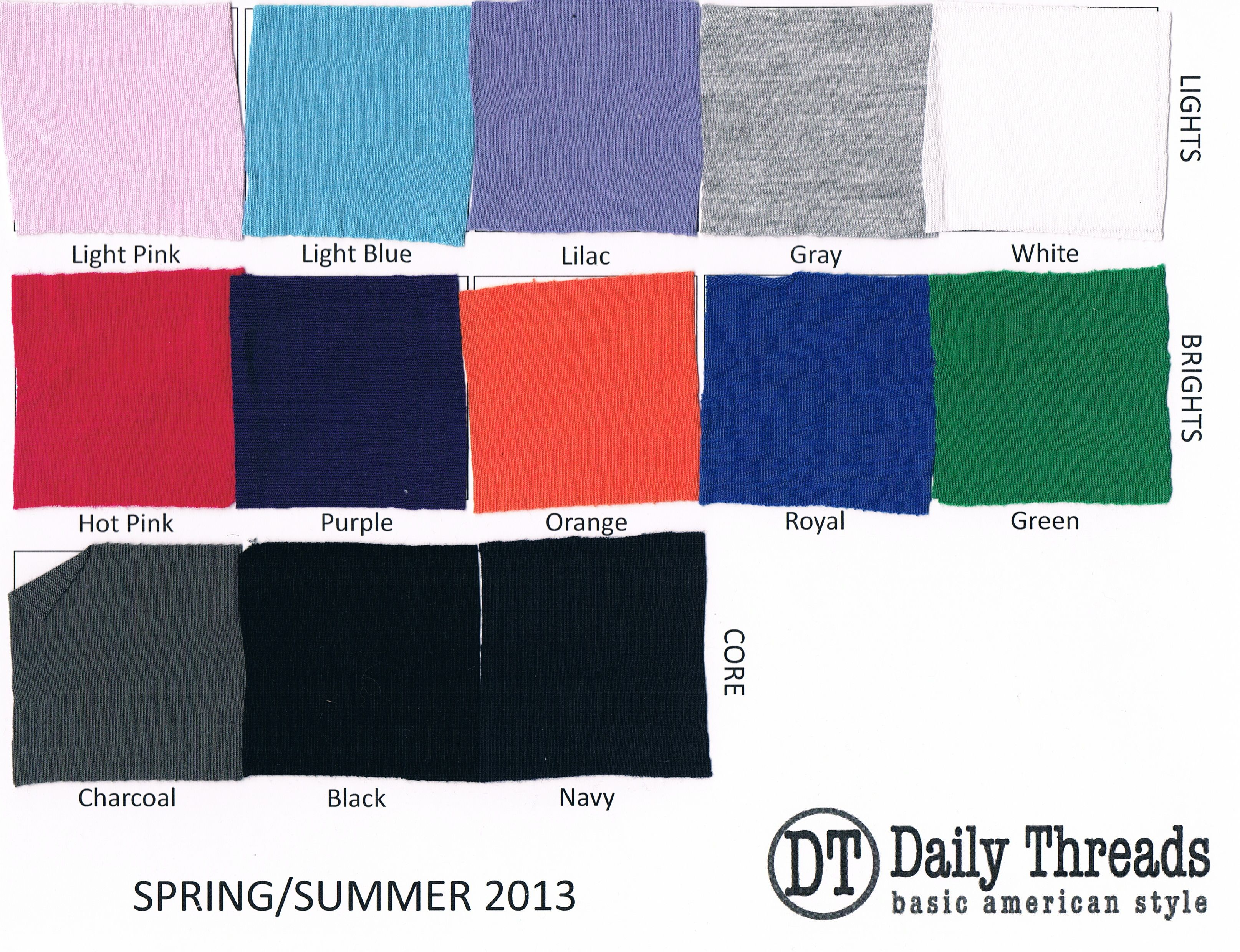 Daily Threads spring colors - these are the solids in our new spring collection