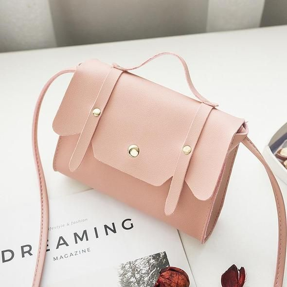 6bc43a1020 Women Shoulder Bag Pink Rivets Messenger Bag Korean Style Teenager Girls  Small Pillow Mini Crossbody Bags For Women 2018 Handbag
