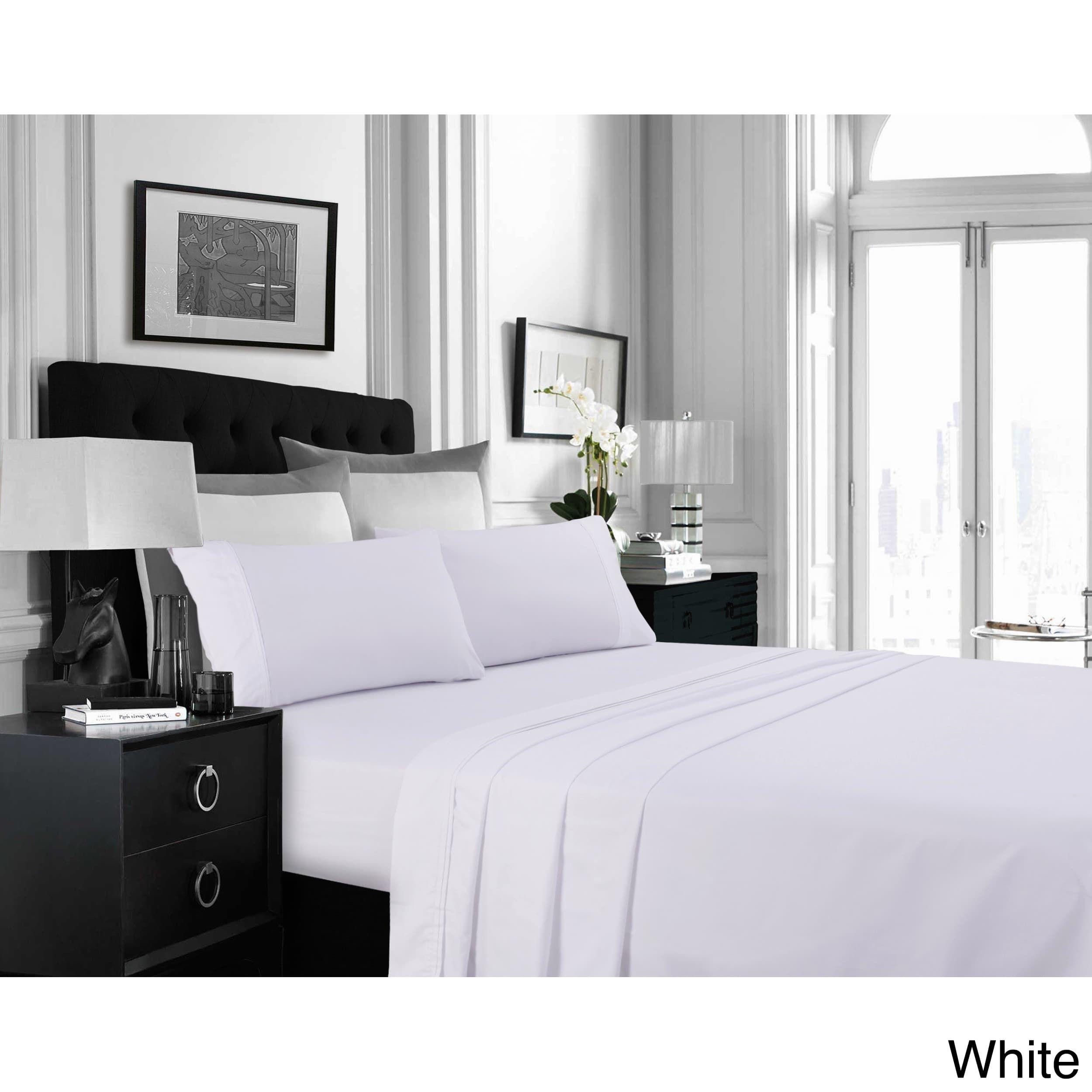 Super Soft Extra Deep Pocket Easycare Bed Sheet Set with