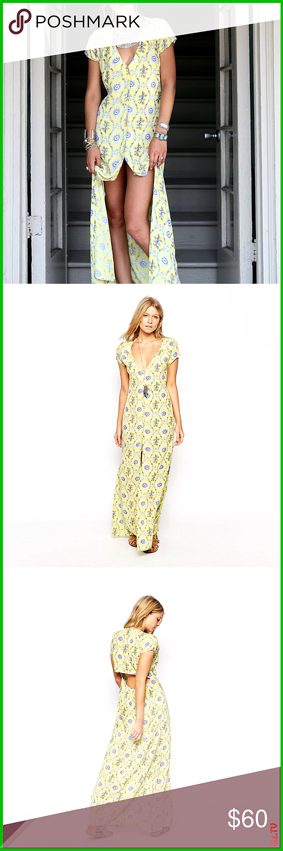 Flynn Skye floral button-down  Eterie  maxi dress In sunny Yellow Delight print reminiscent of Victo...