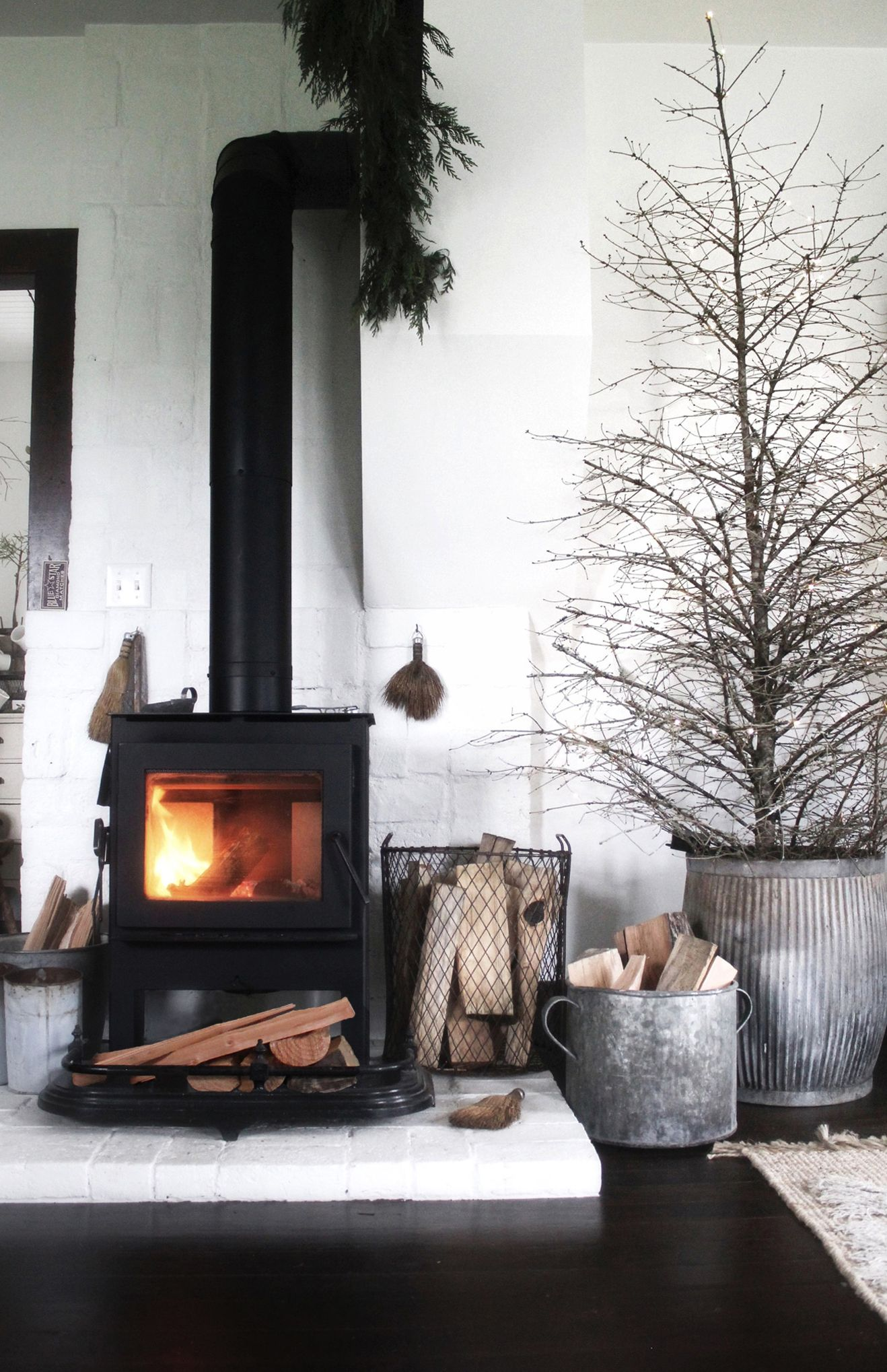 Fireplace | Interiors | Pinterest | Stove, Black wood and Interiors