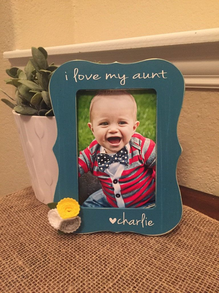 I Love My Aunt Frame Personalized Aunt Auntie Nana Picture Frame