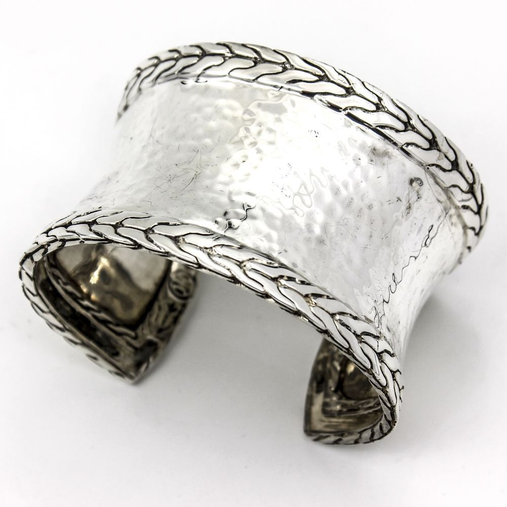 John Hardy Sterling Silver Palu Macan Wide Cuff Bracelet
