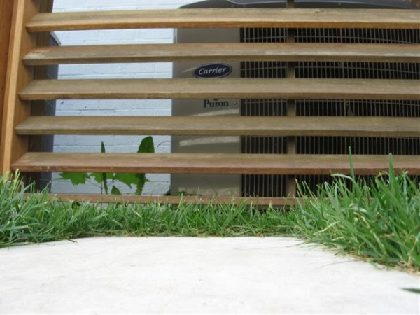 Louvered A C Fence I Adore This Design Cant See The Air