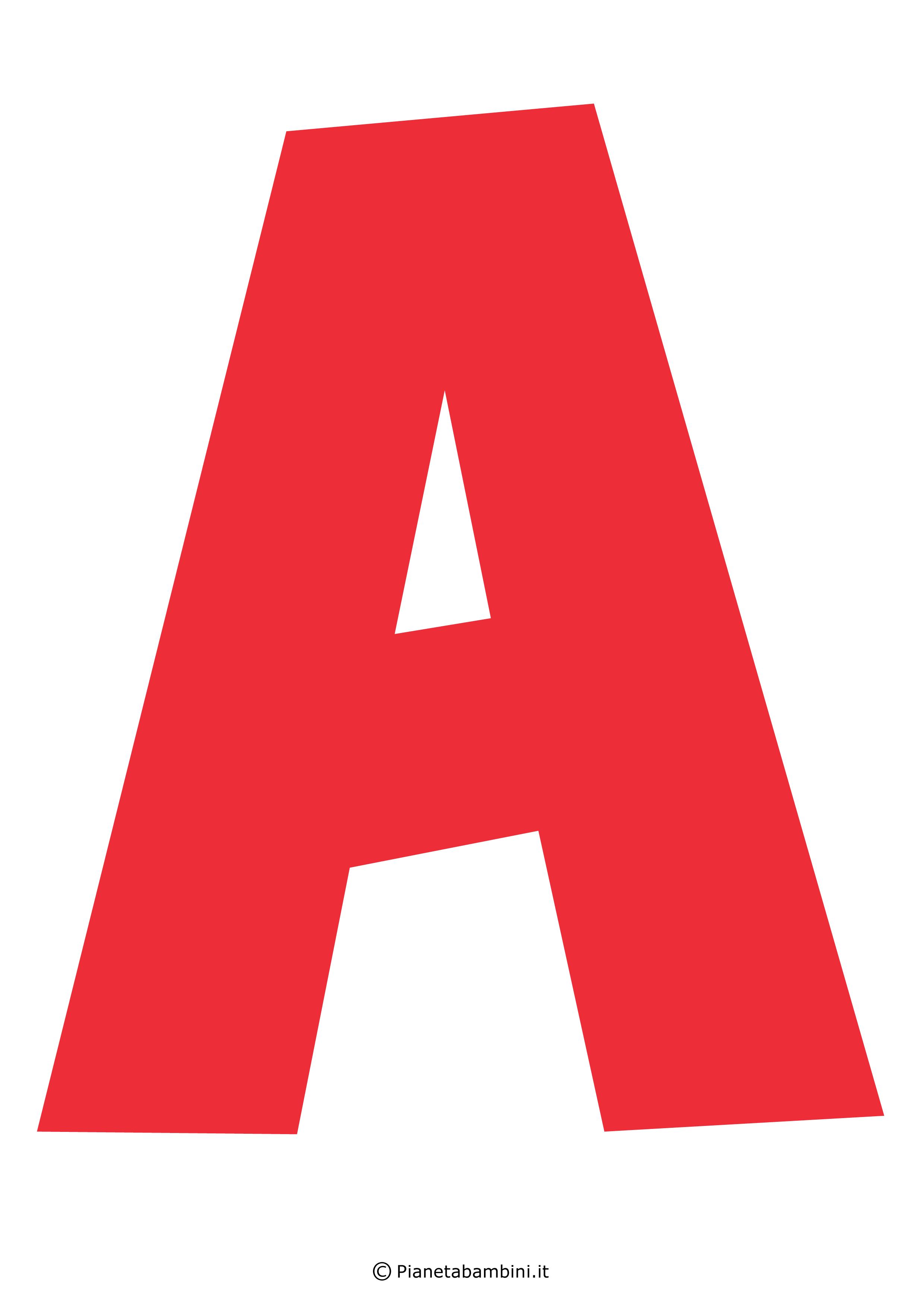 Lettere Alfabeto Da Copiare lettere dell'alfabeto colorate e grandi da stampare