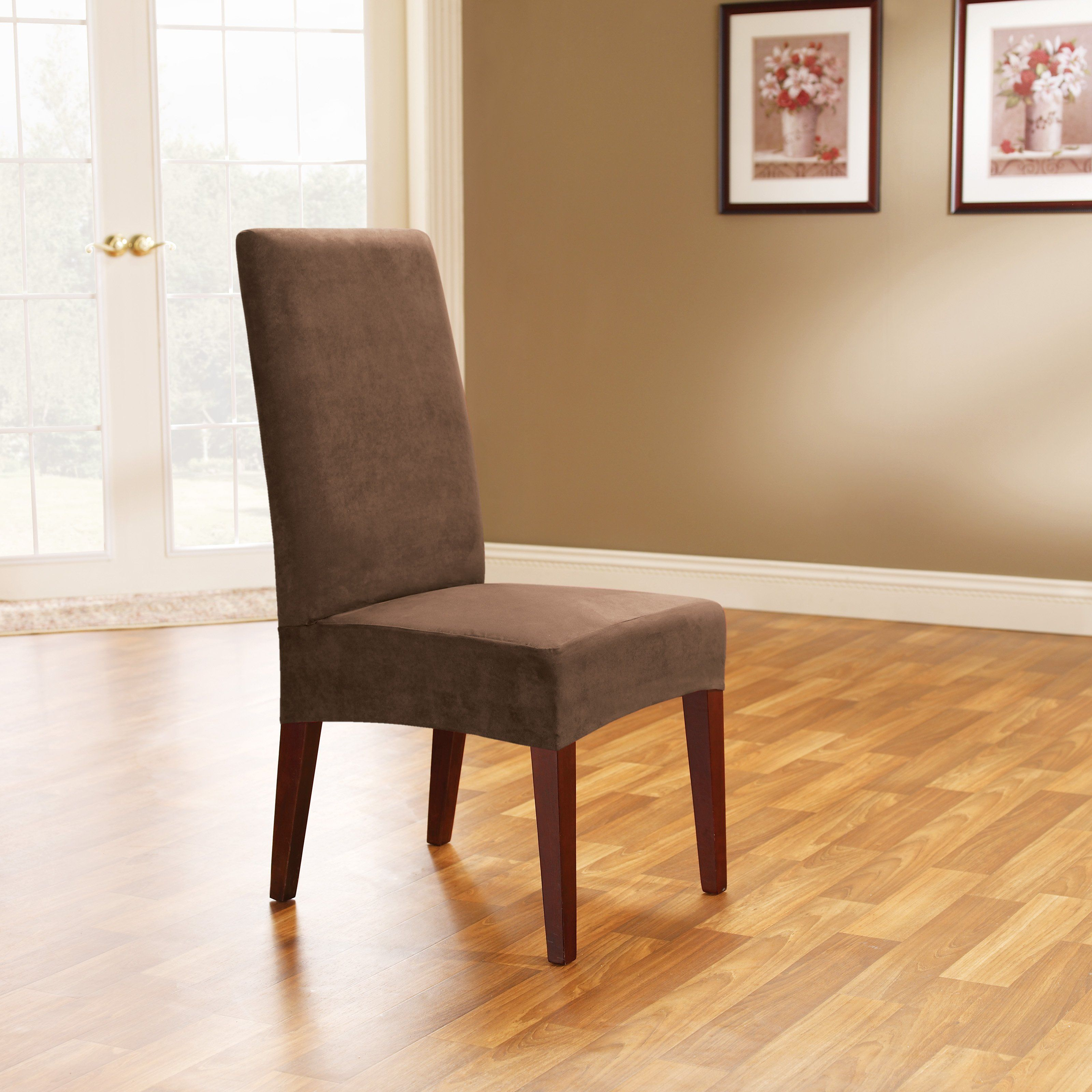 Have to have it Sure Fit Soft Suede Short Dining Room Chair