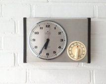 Vintage Kuchenuhr Alka Funfziger Jahre Keramik Mid Century Germany Wanduhr Clock Clock Etsy Vintage