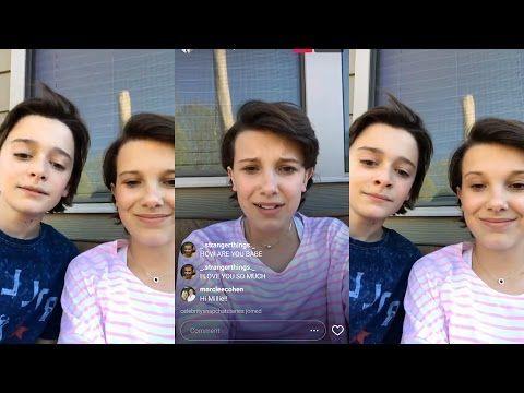 Millie Bobby Brown | Instagram Live Stream | 8 April 2017 w/ Noah Schnapp - YouTube