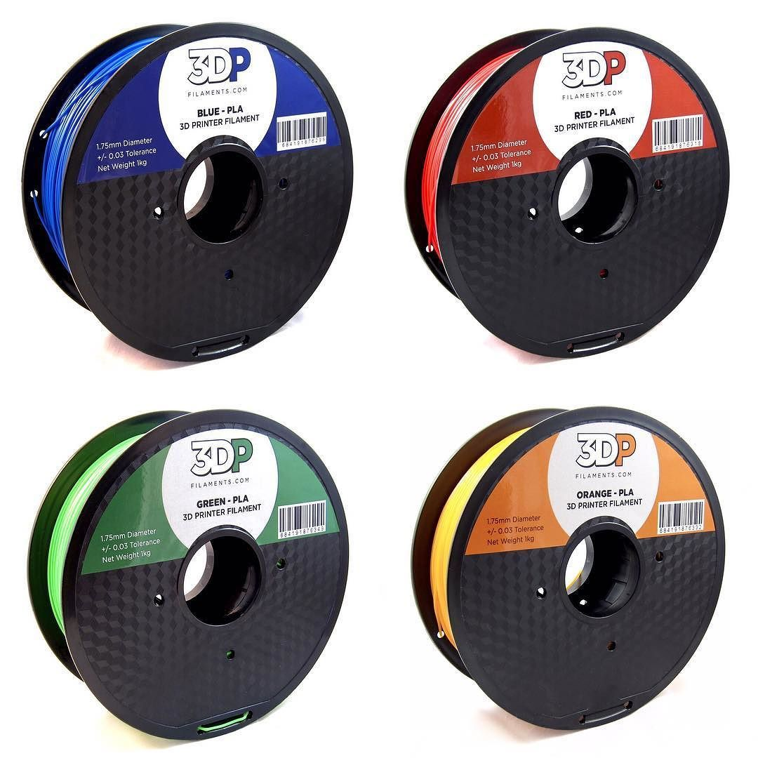 3dp Filaments On Instagram Blue Red Green Orange Pla Now Available Click The Link On Our Bio For Pricing Giveaw 3d Printing Green And Orange Red Green