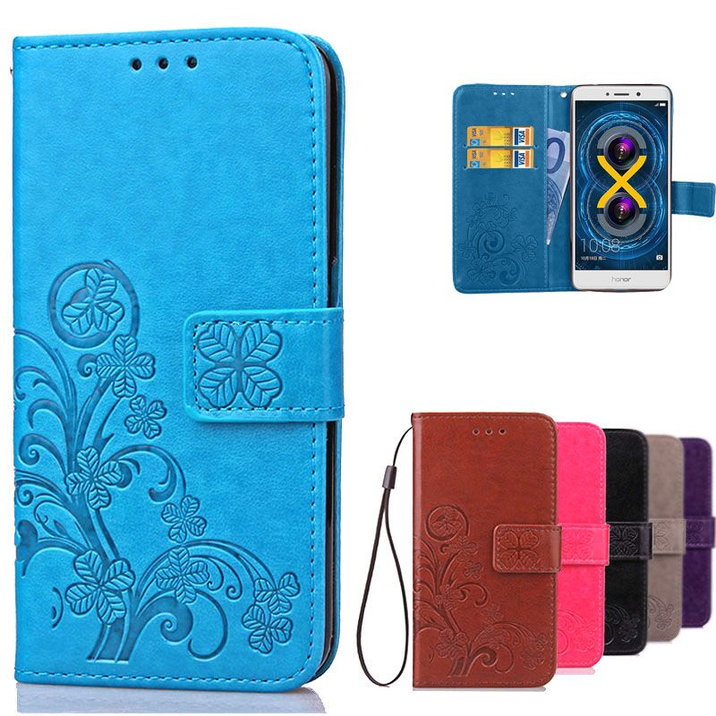 Huawei Honor 6X Case Cover Luxury Flip Leather & Silicone Phone Case Wallet Card Holder Stand Case For Huawei Honor 6X 6 x Cover