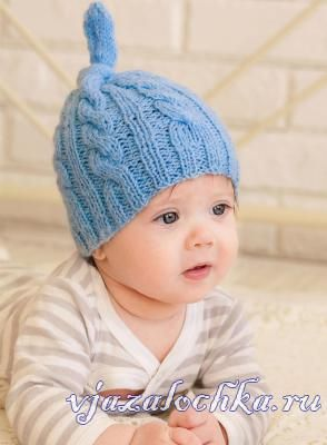 детская шапка спицами вязание спицами для детей вязание