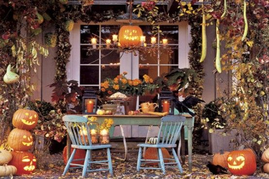 Elaborate Halloween Decor that would be ideal for any party or even ...