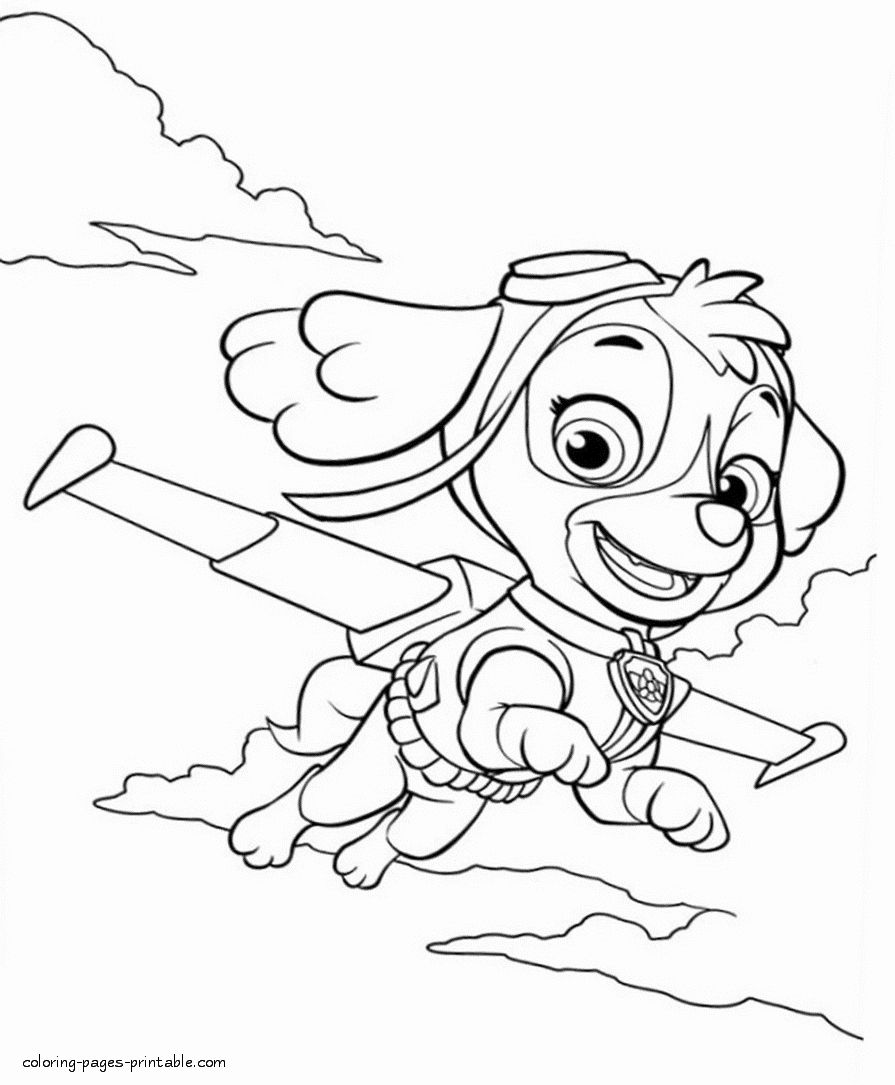 32 Paw Patrol Skye Coloring Page In 2020 Mermaid Coloring Pages