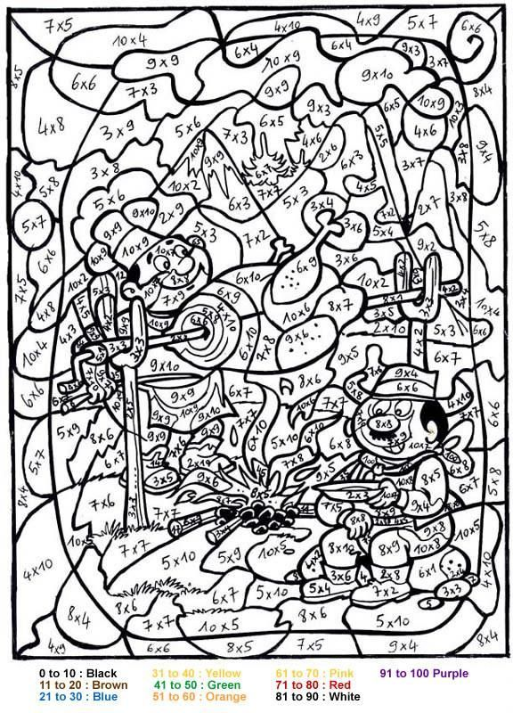 BBQ Color By Number Coloring Page Print Out And This