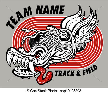 Vector - track and field design - stock illustration, royalty free ...