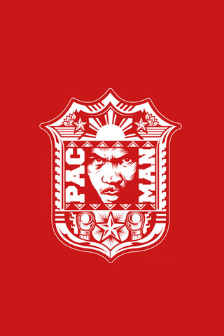 Manny Pacquiao Pacman Red Crest IPhone Wallpapers