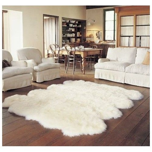 An Octo Sheepskin Rug Made Of Merino Wool From New Zealand