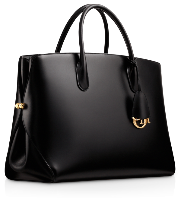 Dior black bag. So simple, chic and elegant. It looks large enough to hold a file or two. Maybe it can be a work expense ...