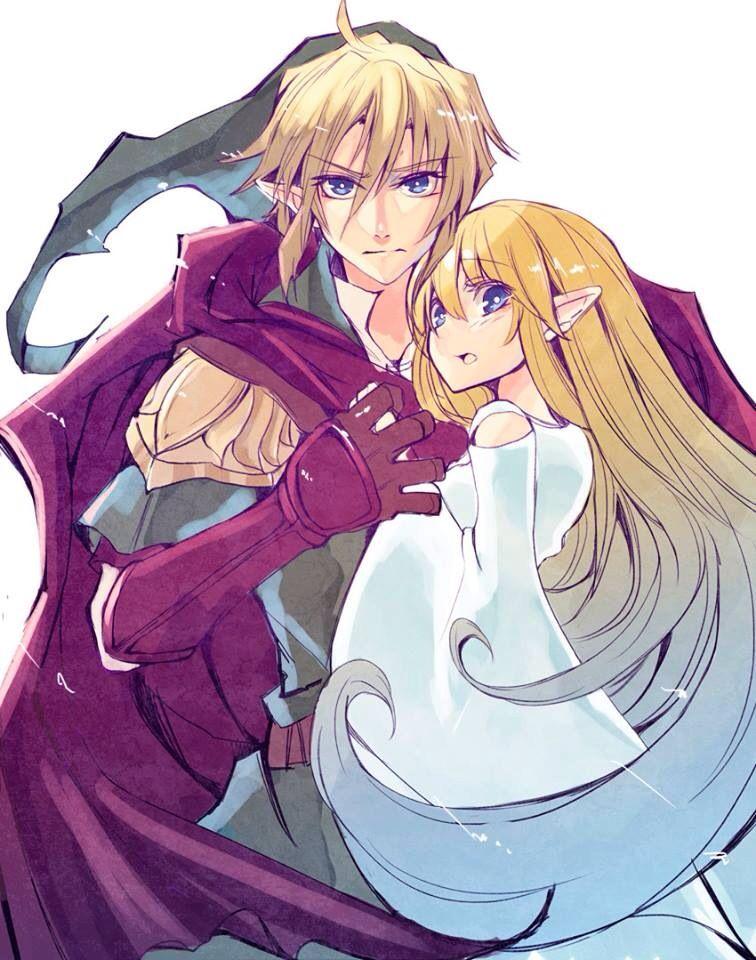 Original Link and the goddess Hylia | Legend of Zelda