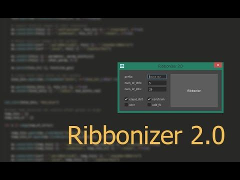 Create a ribbon on any surface  Joint and controller count can be