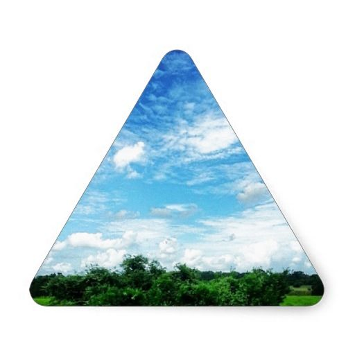 Bright Blue Sky (Nature and Landscapes) Triangle Stickers