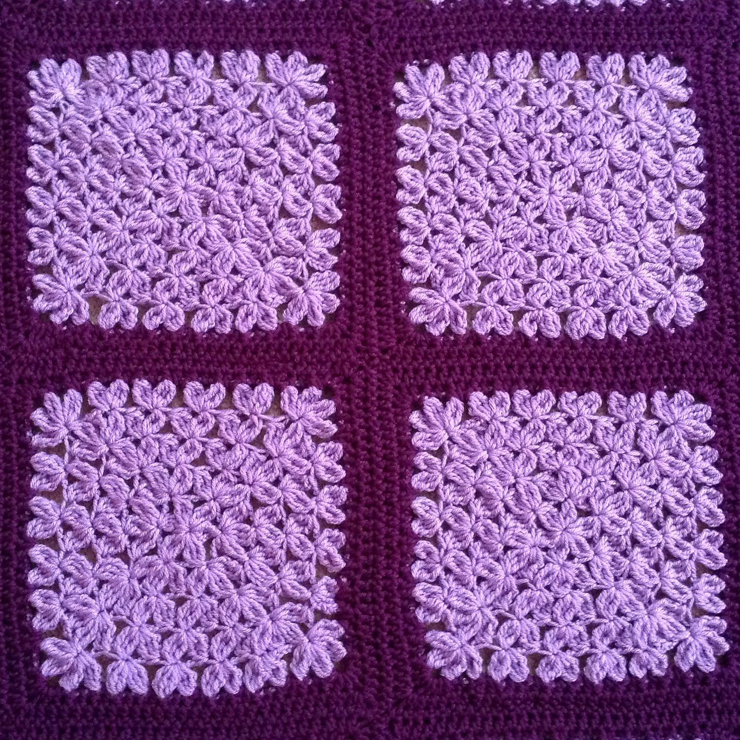 In Treble Afghan Square pattern by Julie Yeager   Afghans, Ravelry ...
