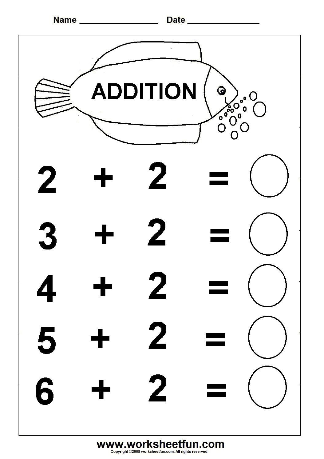 Free Printable Fun Math Worksheets Kindergarten Math In