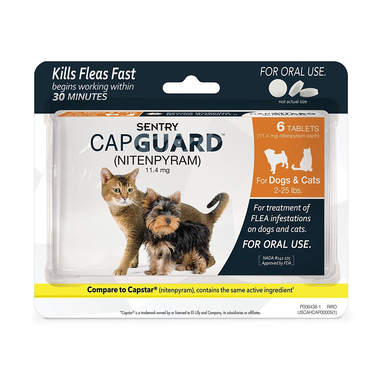 Sentry Capguard Flea Tablets For Cats 2 25lbs 6ct Click Image To Review More Details This Is An Affiliate Link And I Receive A Cat Fleas Fleas Flea Control
