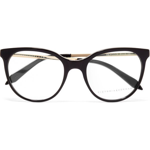 f1f7710b097 Victoria Beckham Classic Kitten cat-eye acetate and gold-tone optical...  (5.126.050 IDR) ❤ liked on Polyvore featuring accessories