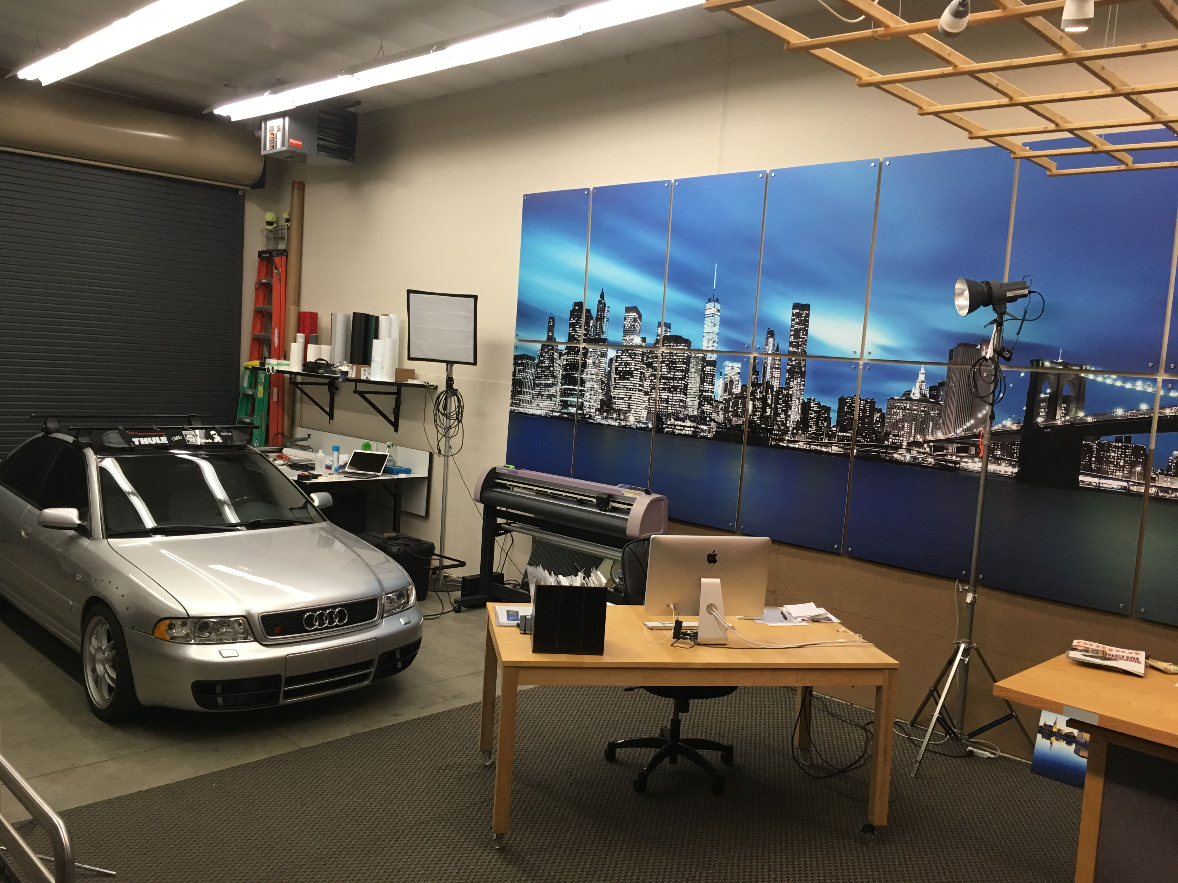 The Design Studio With The Audi B5 S4 #Wrap #Wall