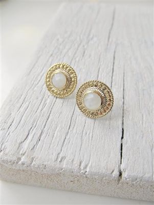 25ded44bf Anna Beck Moonstone Circle Stud Earrings - Gold | On our shelves ...