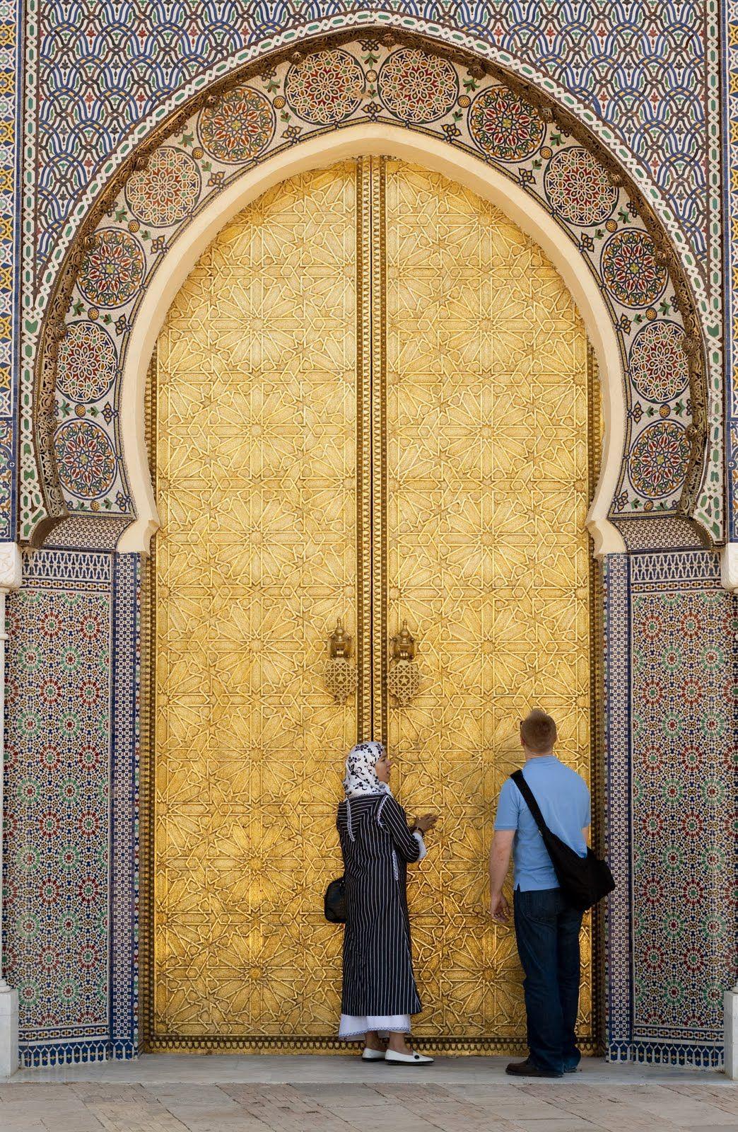 Africa | 14th century door to one of the Kingu0027s palaces. Fez Medina Morocco & Africa | 14th century door to one of the Kingu0027s palaces. Fez ... pezcame.com