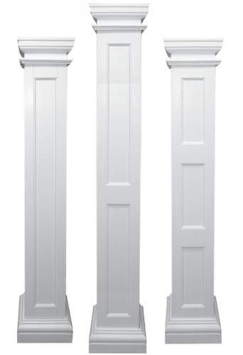 Recessed panel columns fiberglass columns columns and for Fiberglass interior columns