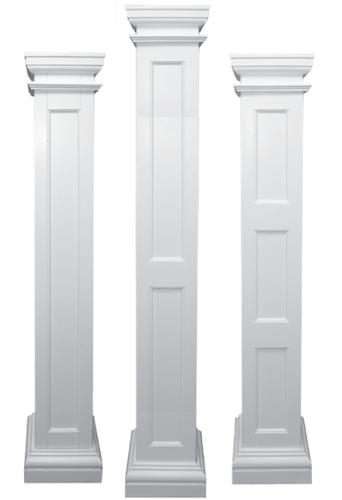 Fiberglas pultruded columns are cost effective light for Interior square column designs
