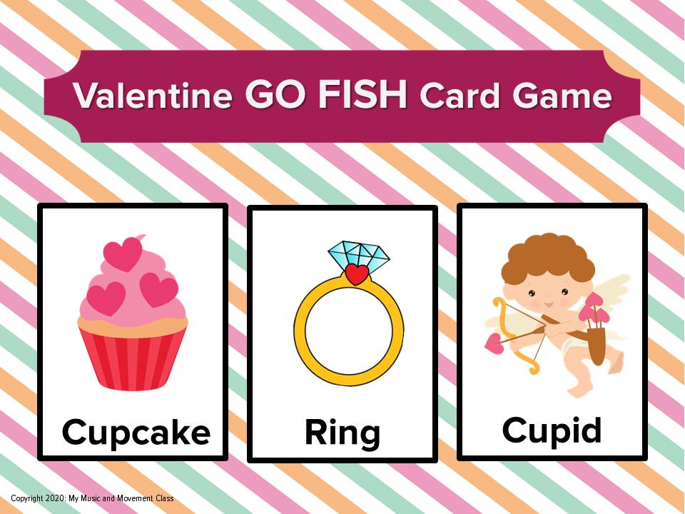Valentine S Day Party Game Go Fish Preschool Valentine S Day Valentine S Day Party Games Preschool Games Valentines Day Party