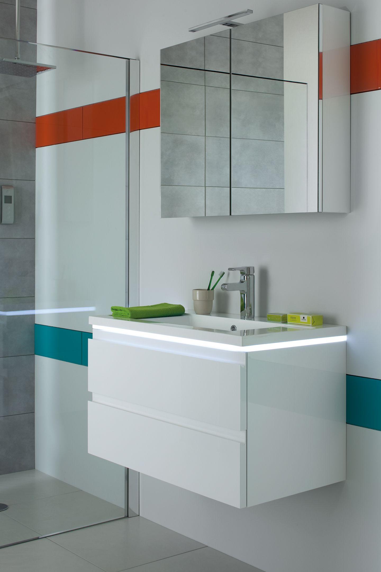 Blanc White Salledebain Bathroom Halo Sanijura Lavabo Meubles
