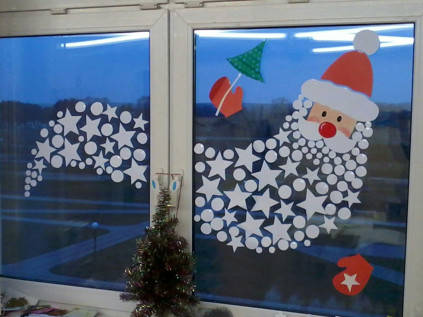 Kerstman van papier eigen idee no l weihnachten for Addobbi natalizi scuola primaria