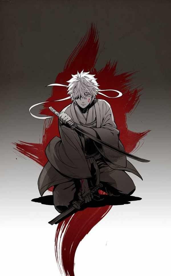 Gintama Sakata Gintoki Gambar Anime Gambar