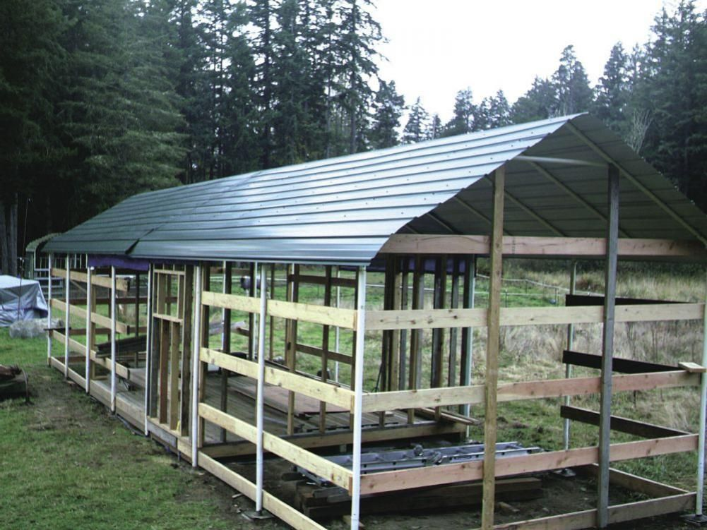 Farm Show Carports Turned Into Low Cost Barn Barns Sheds