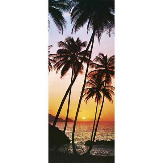 Poster De Porte Sunny Palms 86x200 Cm Beach Wall Murals