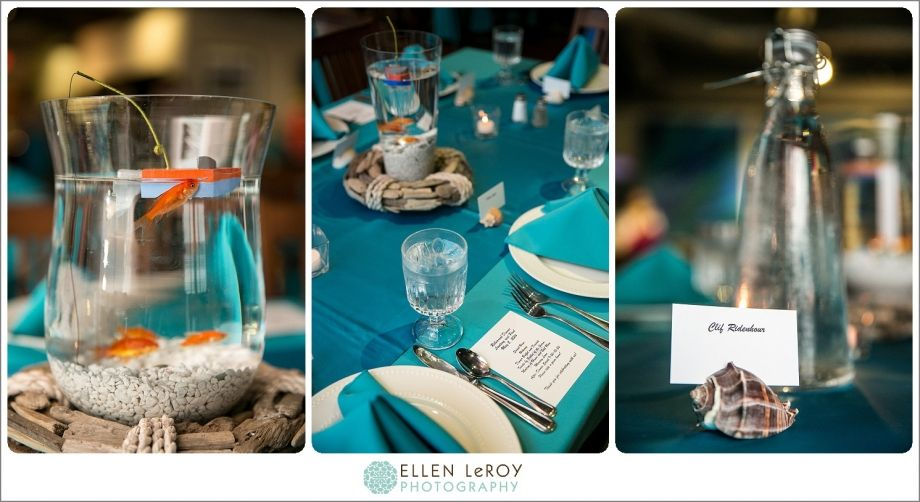 Diy beach theme table centerpeice decoration beach wedding beach and fishing theme rehearsal dinner at the boathouse at front street village beaufort nc junglespirit Choice Image
