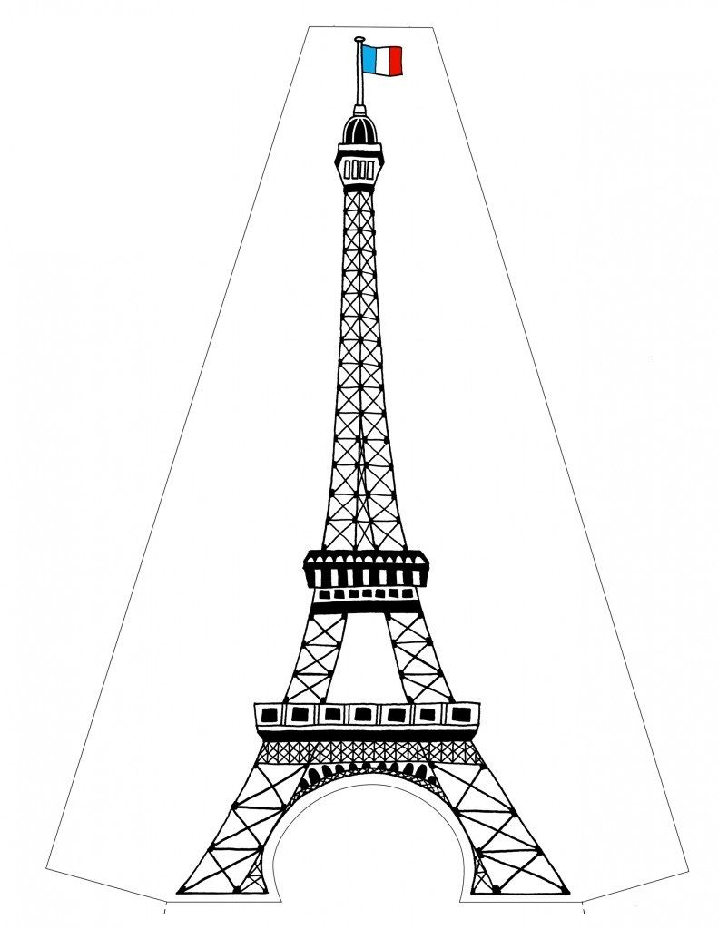 Free Printable Eiffel Tower Coloring Pages For Kids Paris City