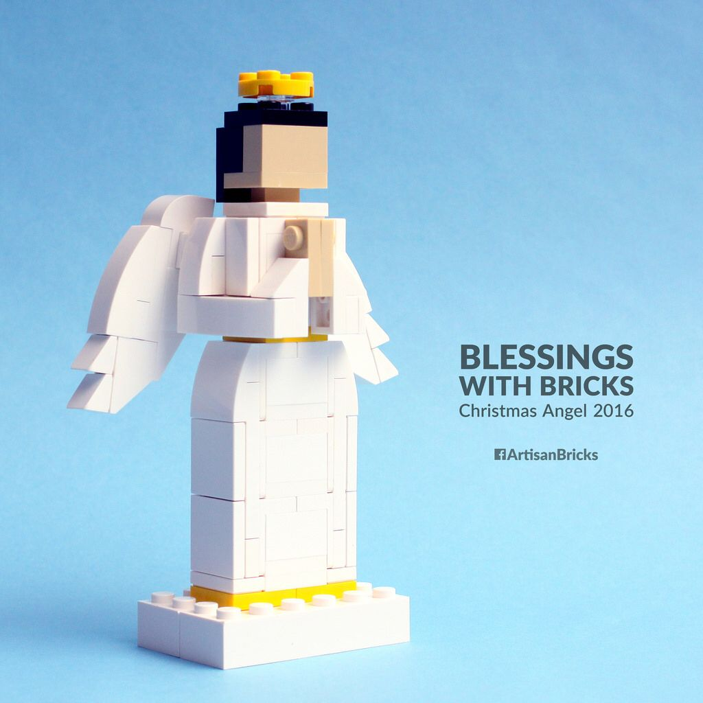 artisan bricks by jeffrey kong lego angel with wings christmas 2016 lego christmas