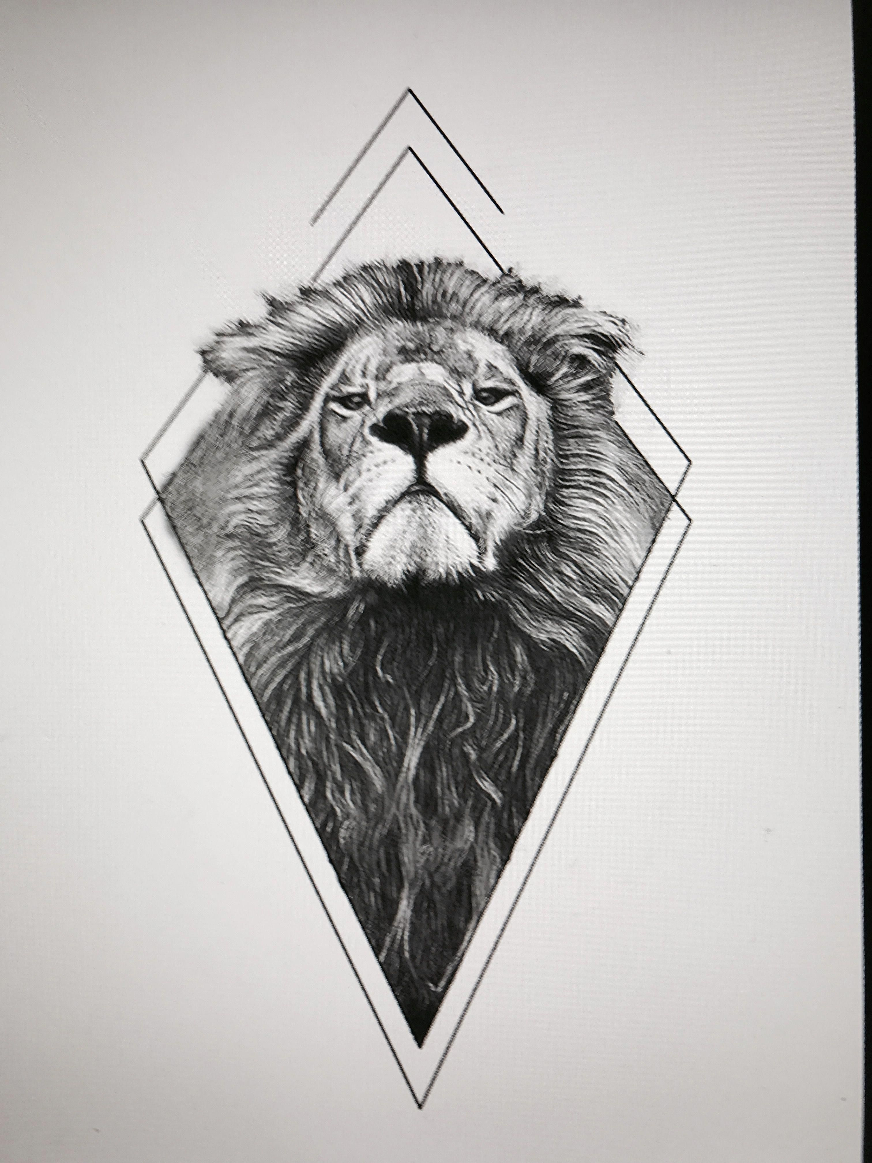 Geometric Tattoo Pattern Geometrictattoos Geometric Lion Tattoo Lion Tattoo Lion Tattoo Design