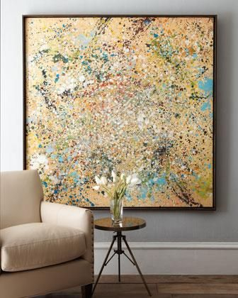 Art wall decor cosmos abstract art neiman marcus gold and
