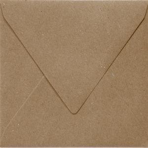 Toon details van Envelop 140x140mm recycled bruin