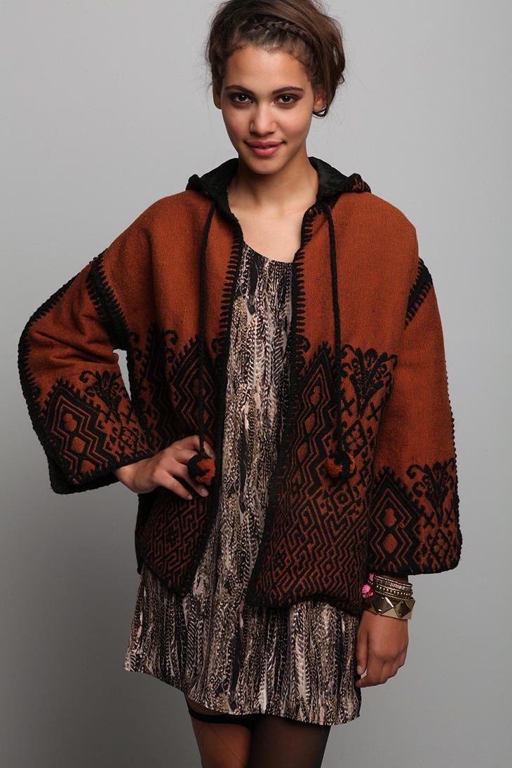 Vintage s hooded embroidered jacket