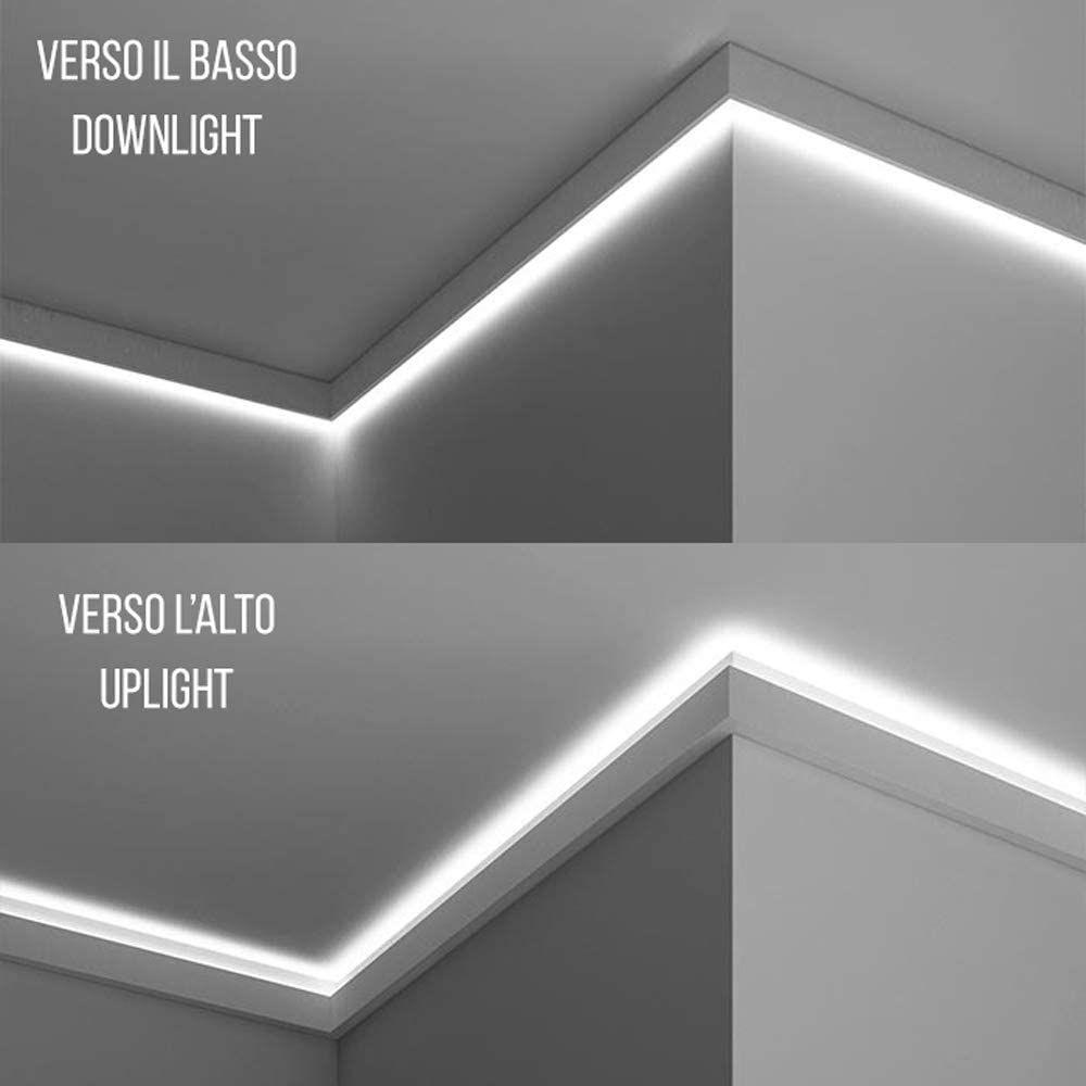 Amazon De Stuckleiste Wandleiste Deckenleiste Lichtleiste Fur Indirekte Led Beleuchtung El302 Led Beleuchtung Beleuchtung Wandleiste